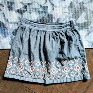 American Eagle Embroidered Skirt